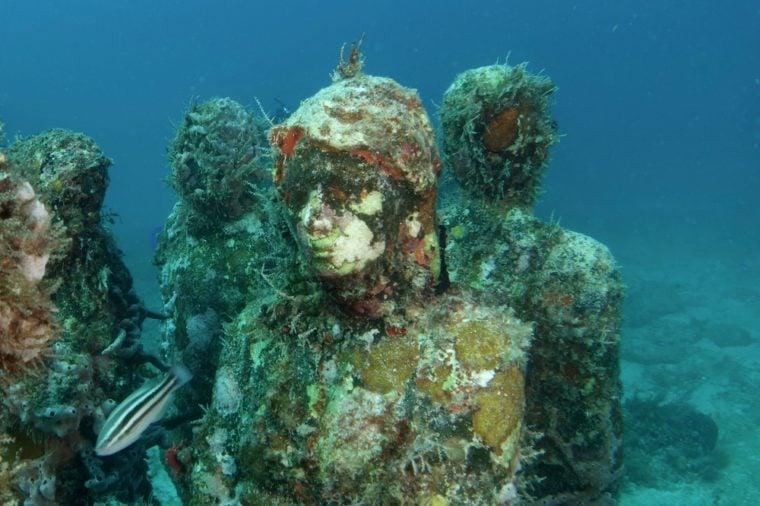 Statues underwater