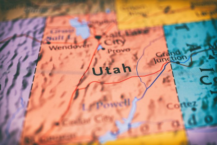 Utah map background