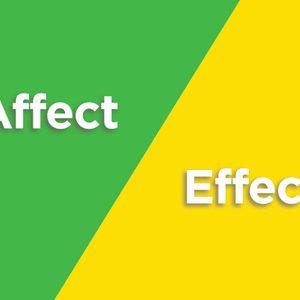 affect effect