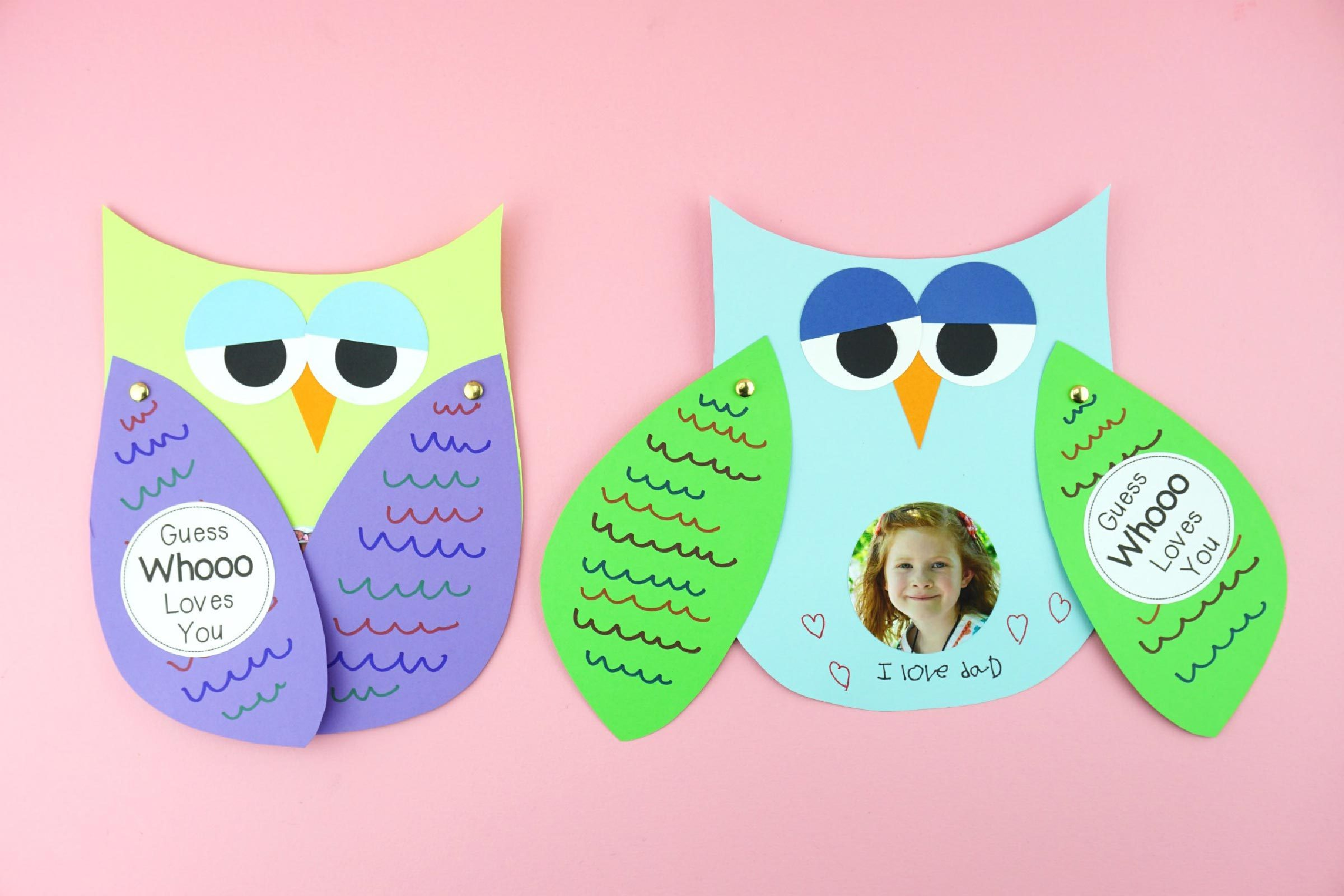 owl father's day craft