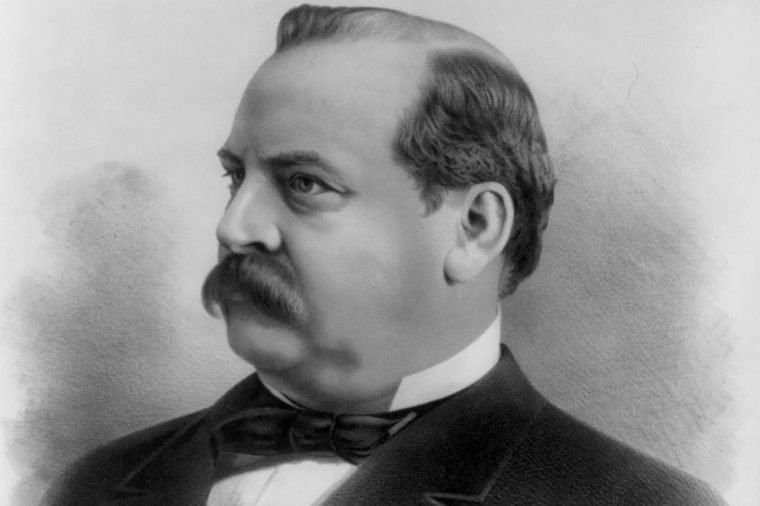 President Grover Cleveland. Cleveland was the 22nd and 24th President of the United States and is the only president to serve two non-consecutive terms.