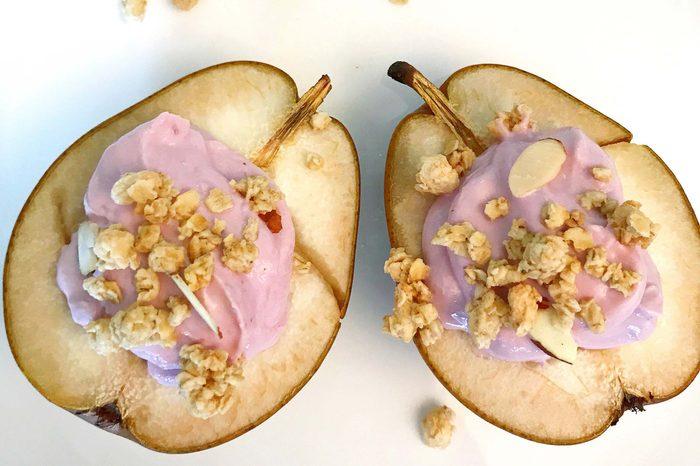 baked pear dish