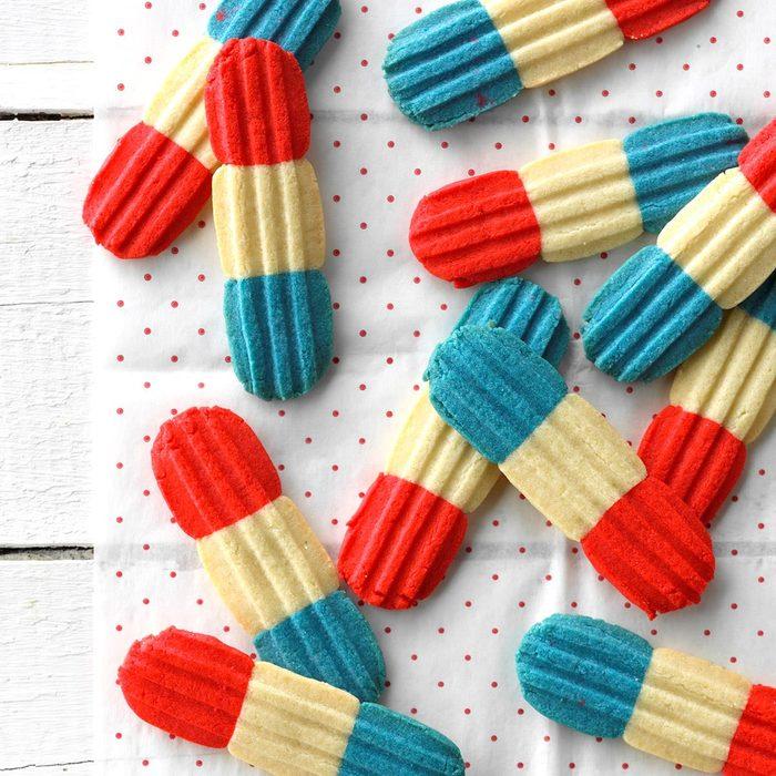Firecracker bomb pop cookies