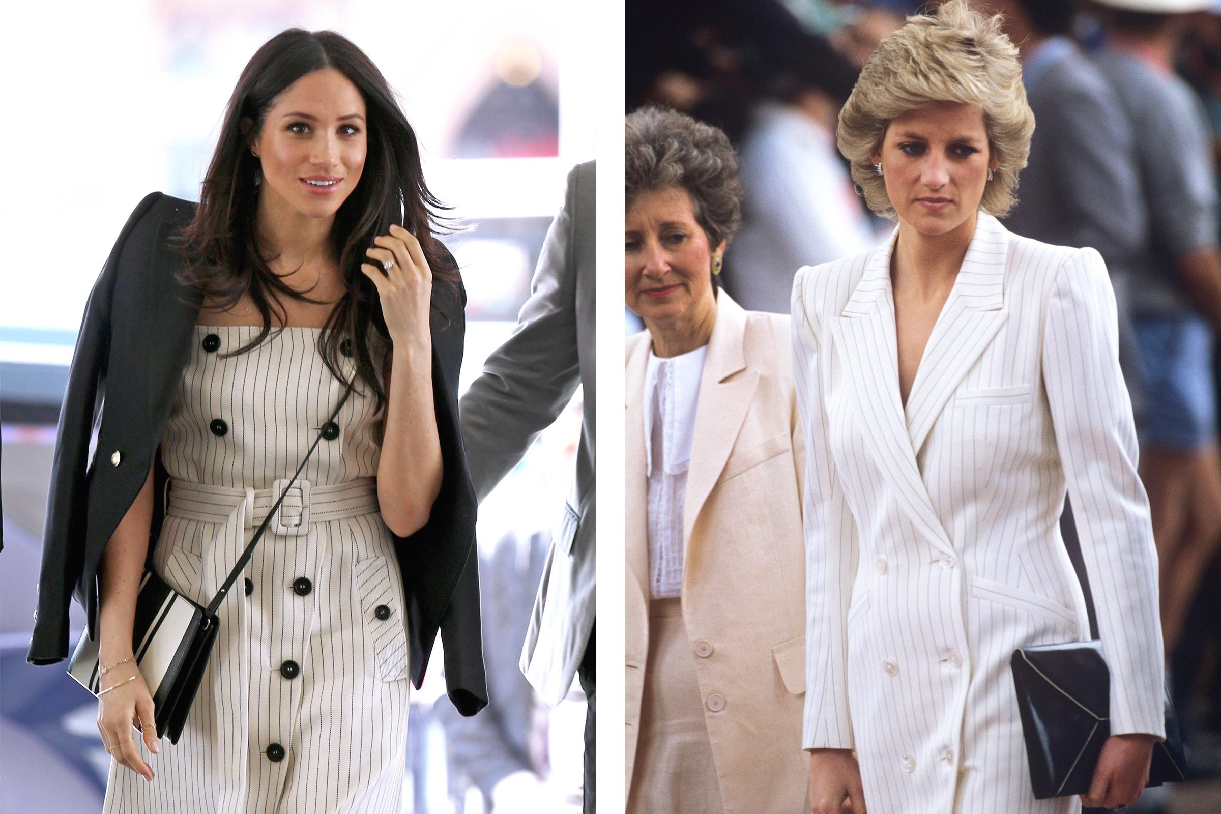 114dafb3 20 Times Meghan Markle and Princess Diana Basically Wore the Same Outfit
