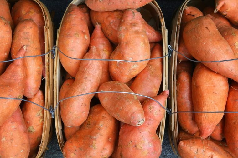 Organic Yams (Sweet Potatoes) - Farm fresh - Beautifully displayed in attractive baskets with wire handles