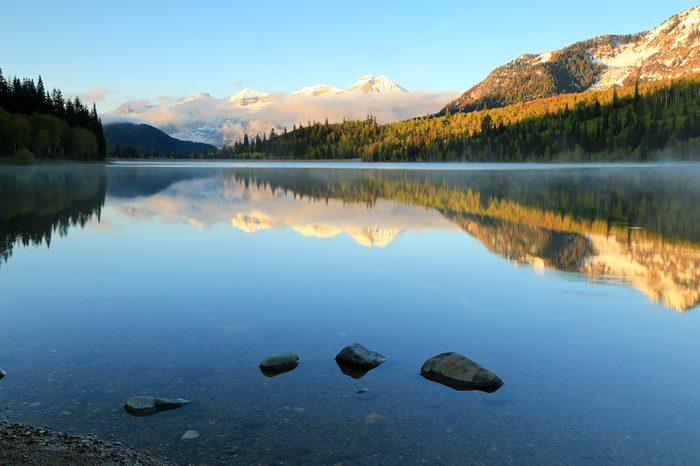 Serene mountain lake, Utah, USA.