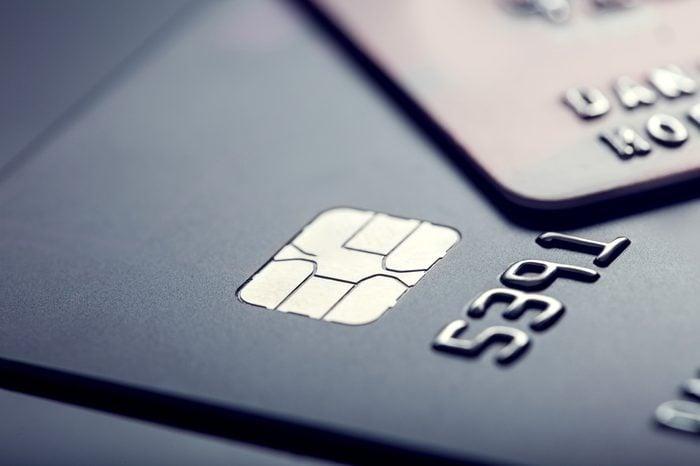Credit cards. Plastic cards.