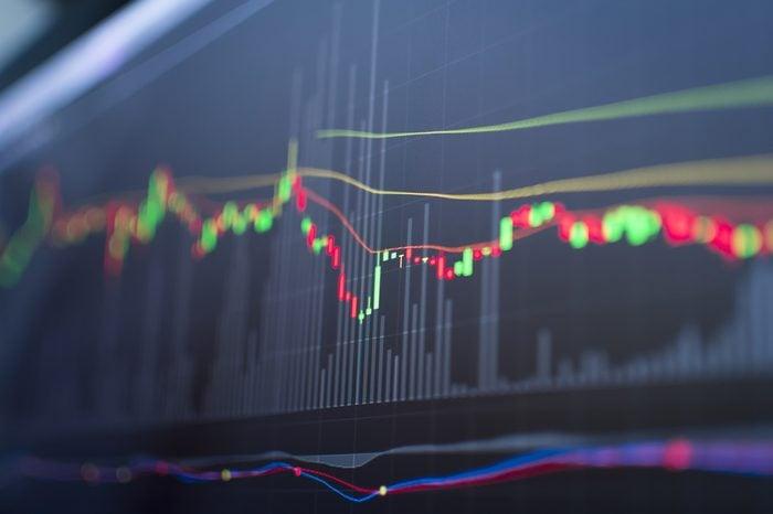 Stock chart.