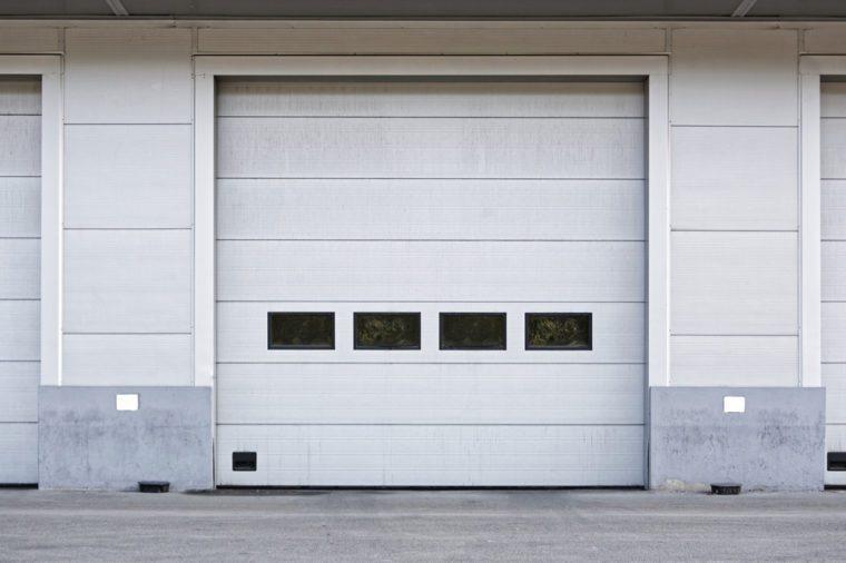 Big Door at Warehouse Docking Bay