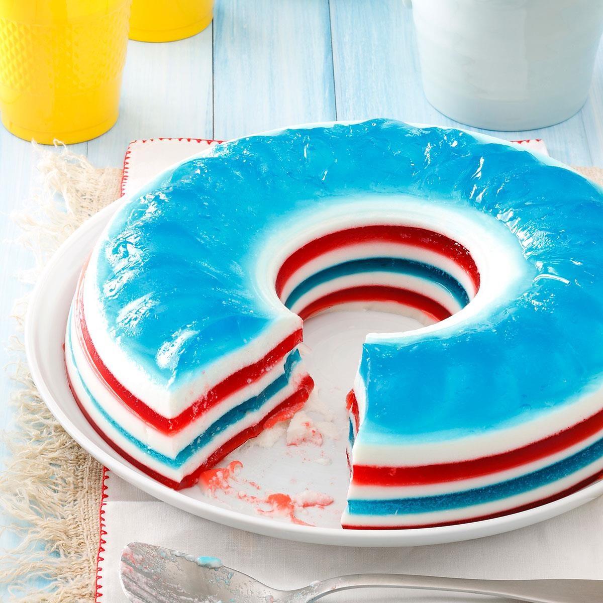 red white blue jello