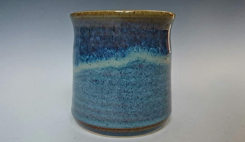 Handmade handleless stoneware mug