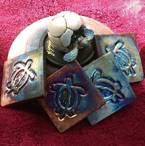 Handmade turtle themed coasters