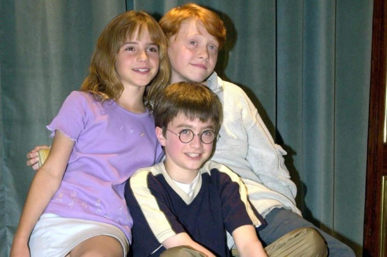 DANIEL RADCLIFFE WHO IS TO PLAY HARRY POTTER IN THE FORTHCOMING FILM WITH EMMA WATSON AND RUPERT GRINT WHO WILL PLAY HERMIONE AND RON
