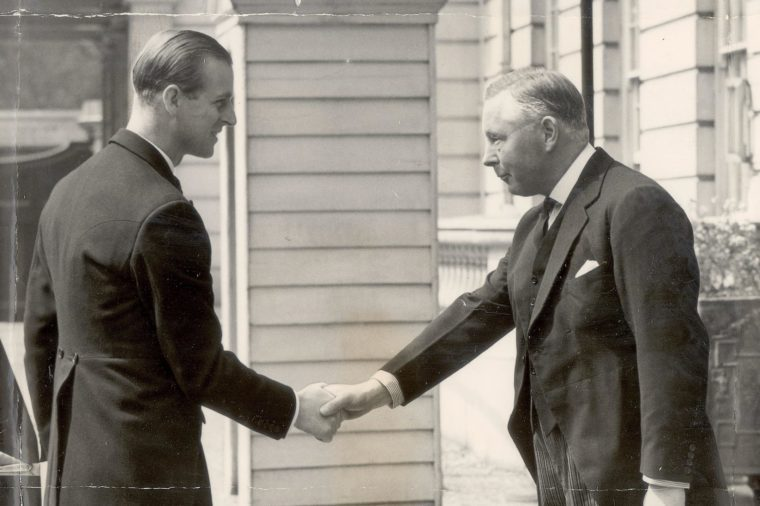 The Duke Of Edinburgh Is Welcomed By The16th Duke Of Norfolk