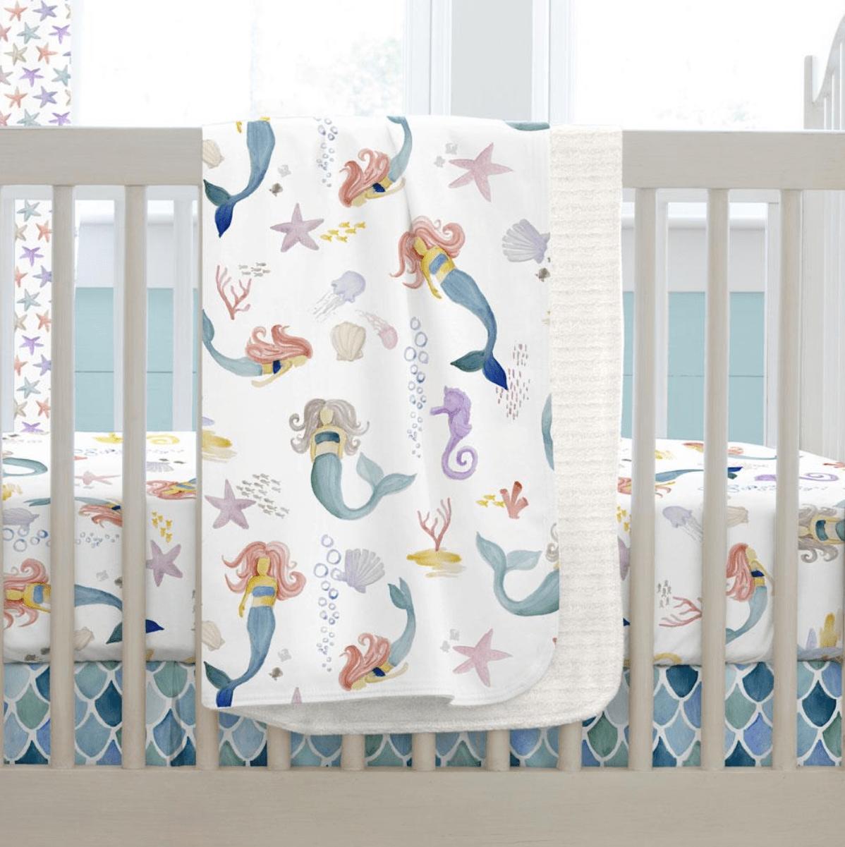 Carousel Designs Watercolor Mermaid Bedding