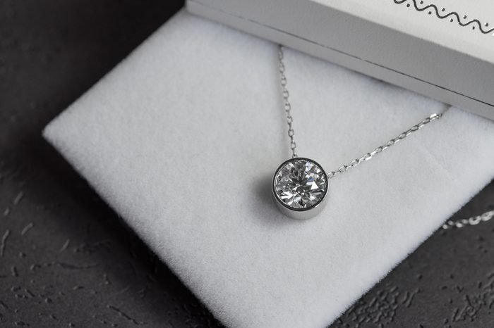 Expensive pendant with a diamond