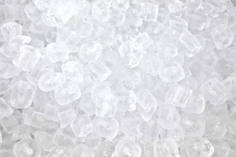 background with many ice cubes