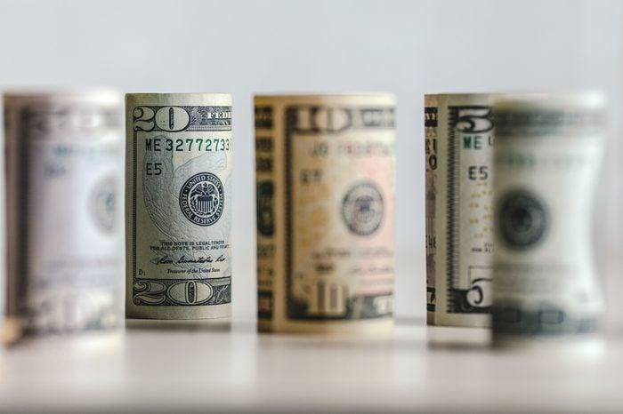 Dollars Closeup Concept. American Dollars Cash Money.