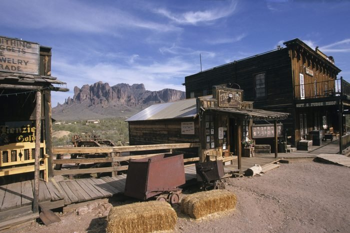 USA Arizona Apache Trail Goldfield Ghost Town Superstition Mountains