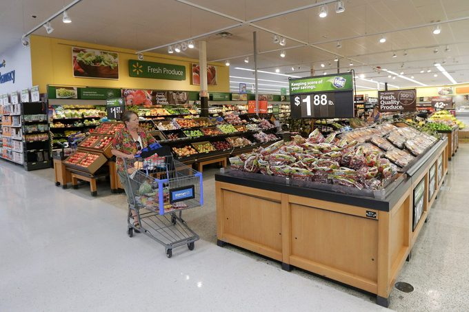 grocery department at a Walmart store