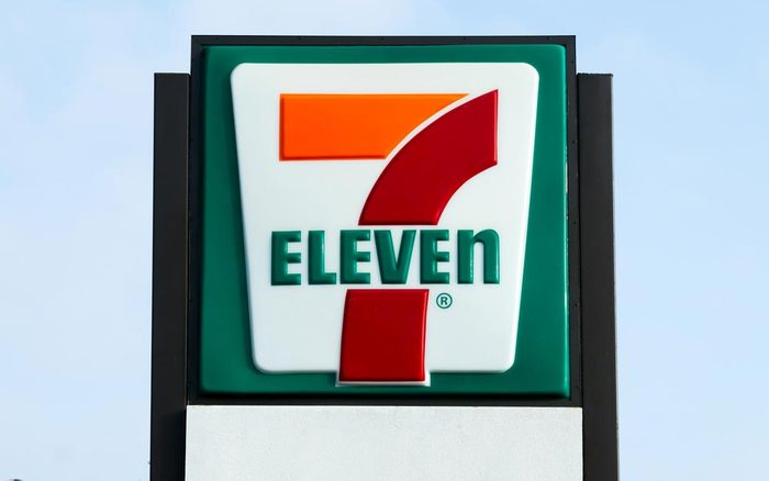 COSTA MESA, CA/USA - OCTOBER 17, 2015: 7-Eleven store exterior and sign. 7-Eleven is the world's largest operator and franchisor of convenience stores.