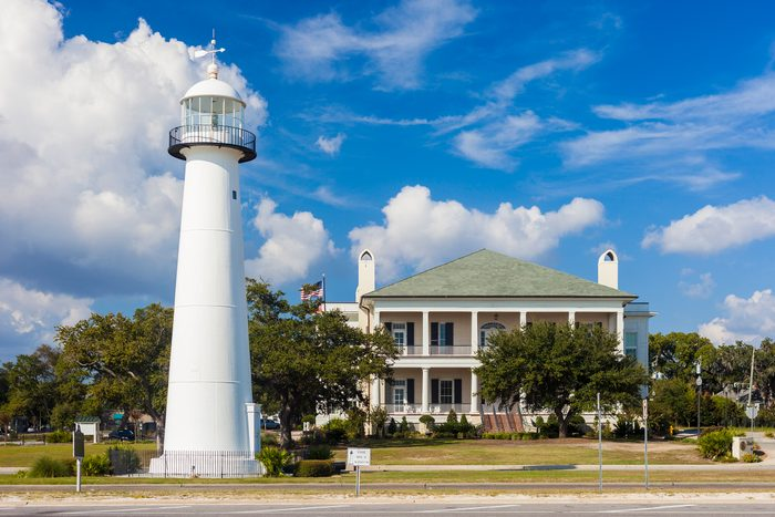 Lighthouse and Visitor Center in Biloxi, Mississippi