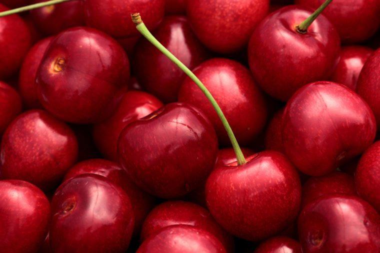 Cherry basket / cherry background/ fresh cherries/ sweet cherries