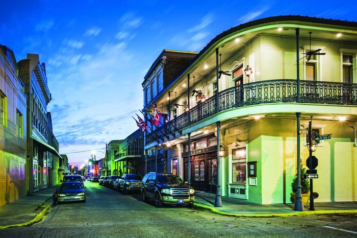 A view down West Third Street downtown Thibodaux, La. Located near the banks of Bayou Lafourch, downtown Thibodaux mixes historic architecture while serving as the cultural, commercial and dining center of the city.