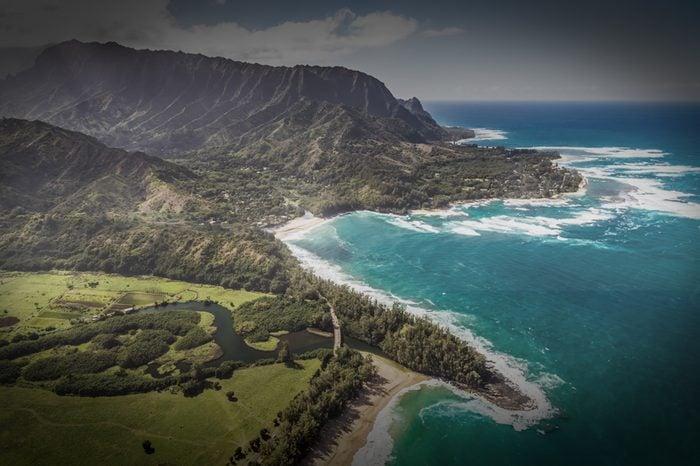 Helicopter tour of Kauai, Hawaii