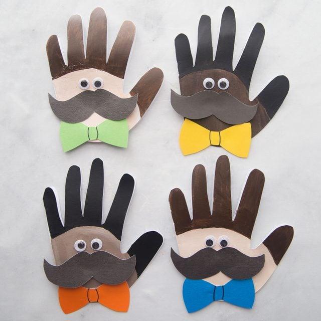 handprint fathers day craft idea