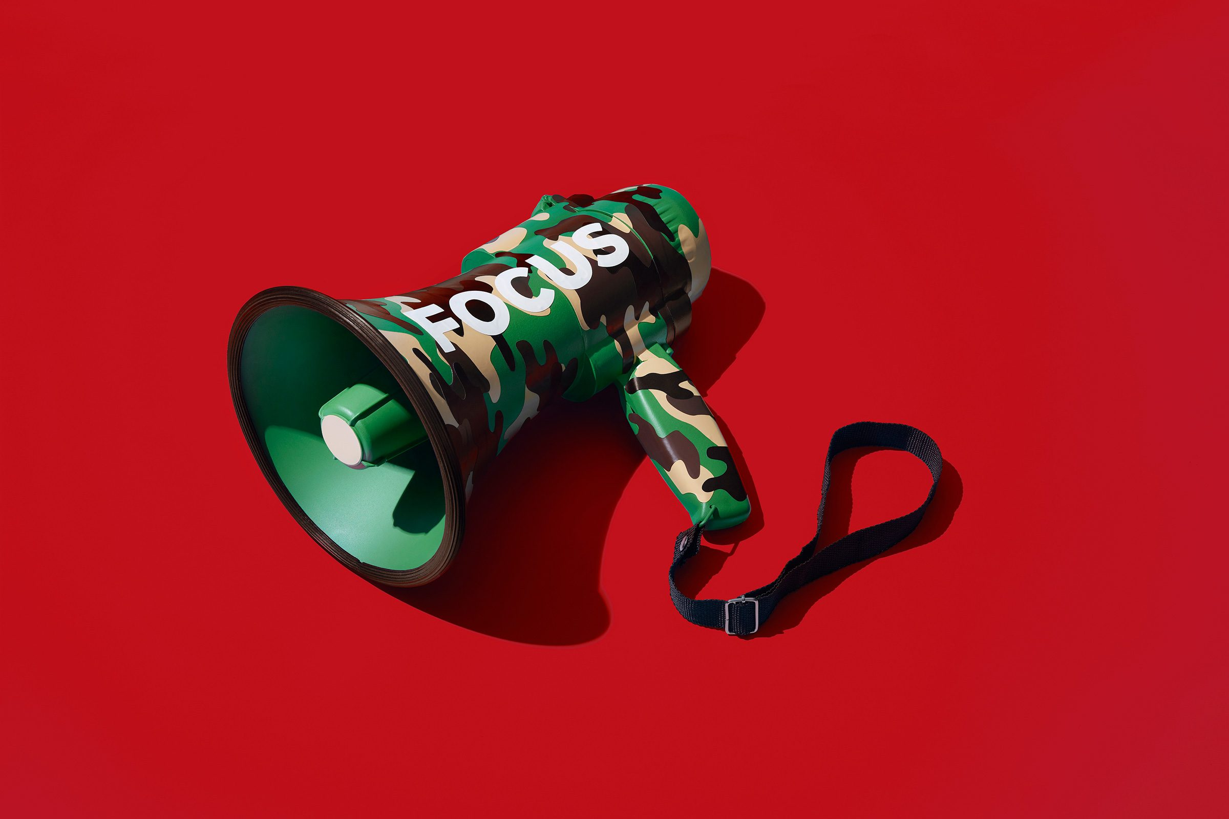 Megaphone on red