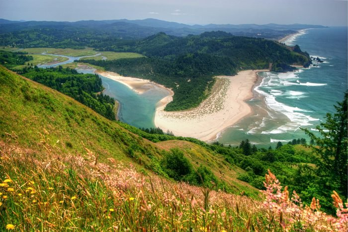 The view from the Cascade head trail, north of Lincoln City, Oregon