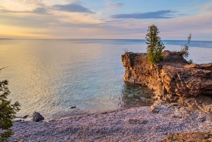 Lake Superior Coast At Presque Isle Park Marquette Michigan