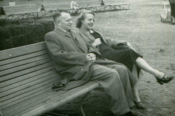Vintage photo of couple