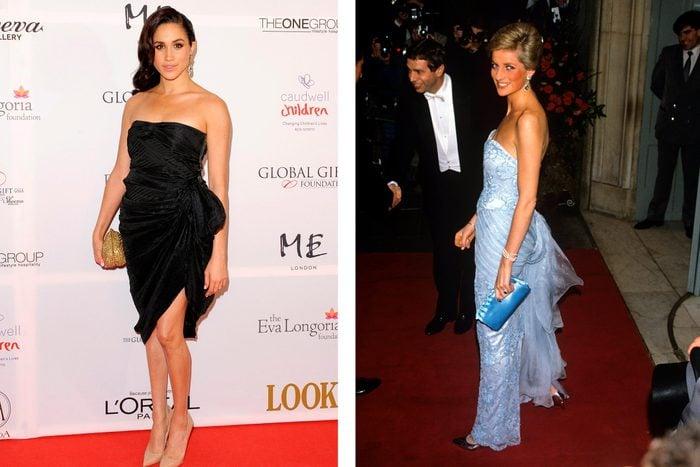Meghan Markle and Princess Diana outfits