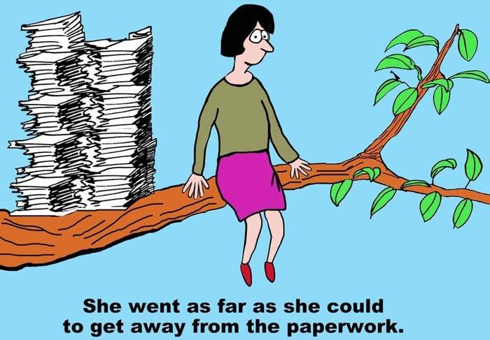 Never-ending paperwork