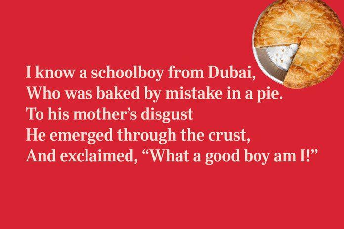 Pie limerick for kids