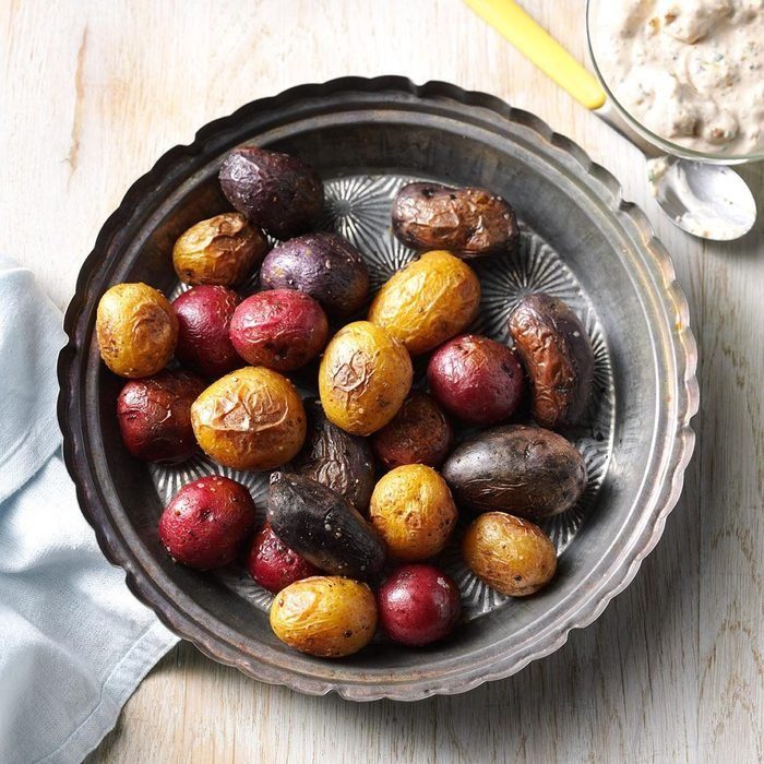 Patriotic Potatoes With Mustard Sauce