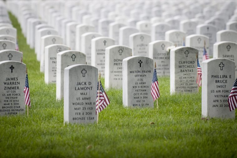 Flags Adorn Every Headstone on Memorial Day at Arlington National Cemetery in Arlington Virginia Usa 30 May 2016 United States Arlington