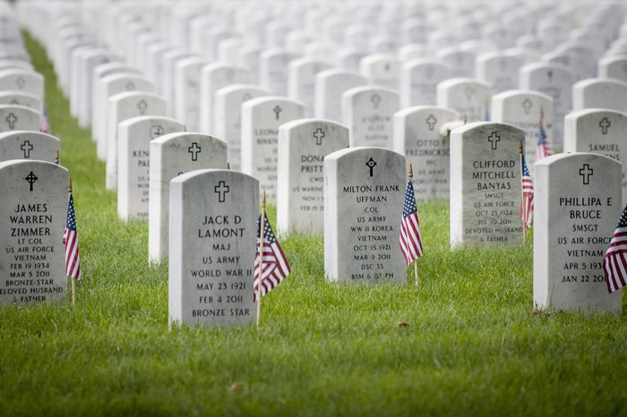 Flags Adorn Every Headstone on Memorial Day at Arlington National Cemetery in Arlington Virginia Usa 30 May 2016 United States Arlington