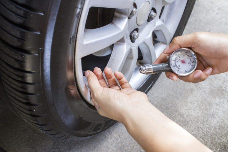 Check tire pressure.