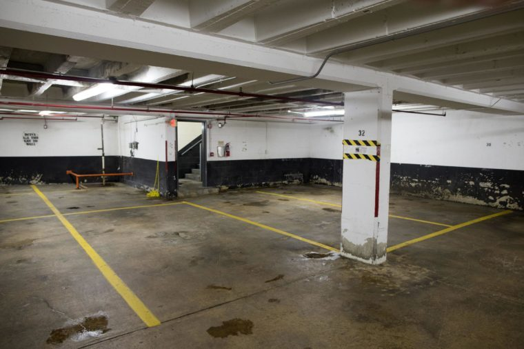 A general view of the center parking space 32D (number 32 on level D) in the parking garage where Washington Post reporter Bob Woodward met on multiple occasions with his source Mark Felt, code name 'Deep Throat', between 1972-1973, in Rossyln, Virginia, USA, 06 July 2017. Mark Felt, who revealed himself to be 'Deep Throat' in 2005, was a top FBI official and provided Woodward with information that exposed the Nixon administration's obstruction of the FBI's Watergate investigation - a scandal that resulted in the resignation of former US President Richard Nixon. Space 32D is conveniently located beside an exit in the garage. In 2014 the Arlington County Board voted in favor of a developer's plan to tear down the historic garage where Woodward and Felt met, according to media reports, and eventually be replaced by an apartment complex.