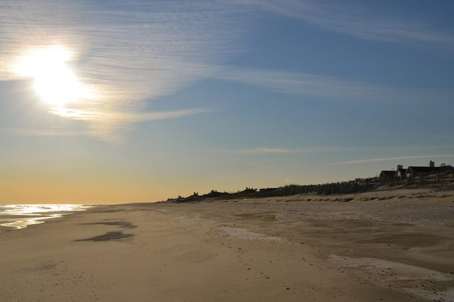 """A sunny winter afternoon in Cooper"""" s Beach,Southampton."""