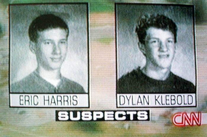 TV VIDEO GRABS OF ERIC HARRIS AND DYLAN KLEBOLD COLUMBINE HIGH SCHOOL SHOOTINGS IN LITTLETON, DENVER, COLORADO, AMERICA - 1999