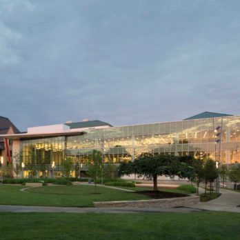 Columbus Metropolitan Library's Main Library and Park Plaza in Columbus, OH