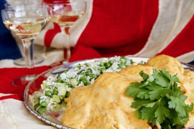 Coronation Chicken with rice salad