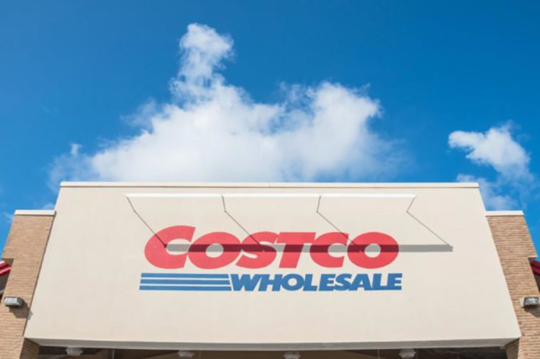 HOUSTON, TX, US-SEPT 16, 2017:Close-up facade and logo of Costco storefront. Costco Wholesale Corporation is largest membership-only warehouse club in US. It has total of 705 warehouses worldwide