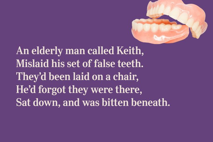 Dentures limerick for kids