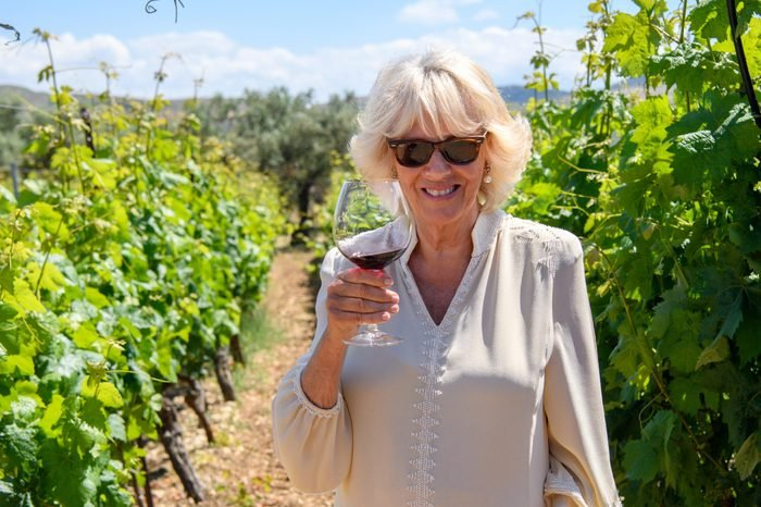 Camilla Duchess of Cornwall visits Lyrarakis Winery