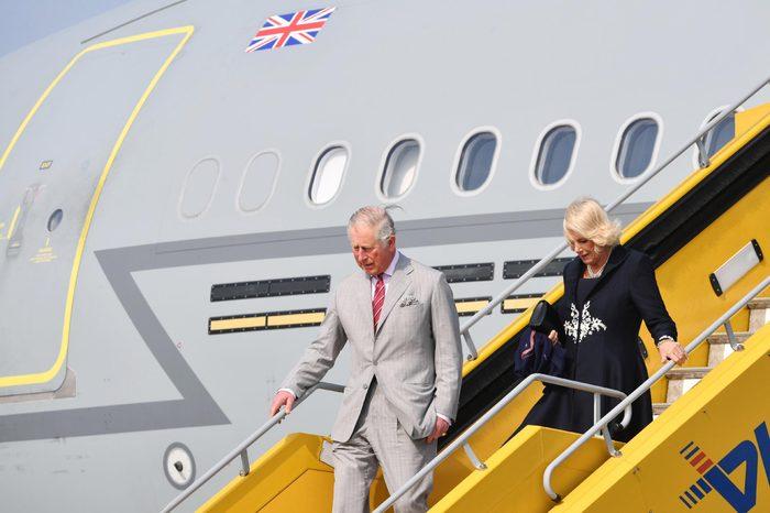 Prince Charles and Camilla Duchess of Cornwall arrive at Vienna International Airport TRH
